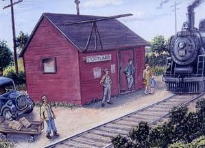 Portland Station Painting